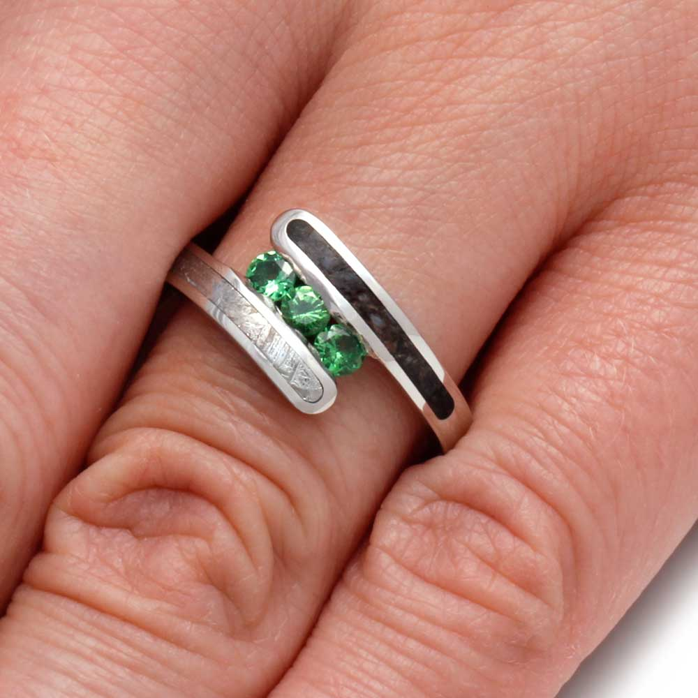 rings stone anniversary ring princess stacking products garnet tsavorite earth rare band cut