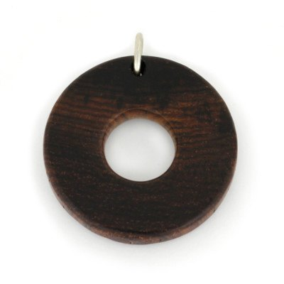 Circle Wood Pendants with Bail(1)