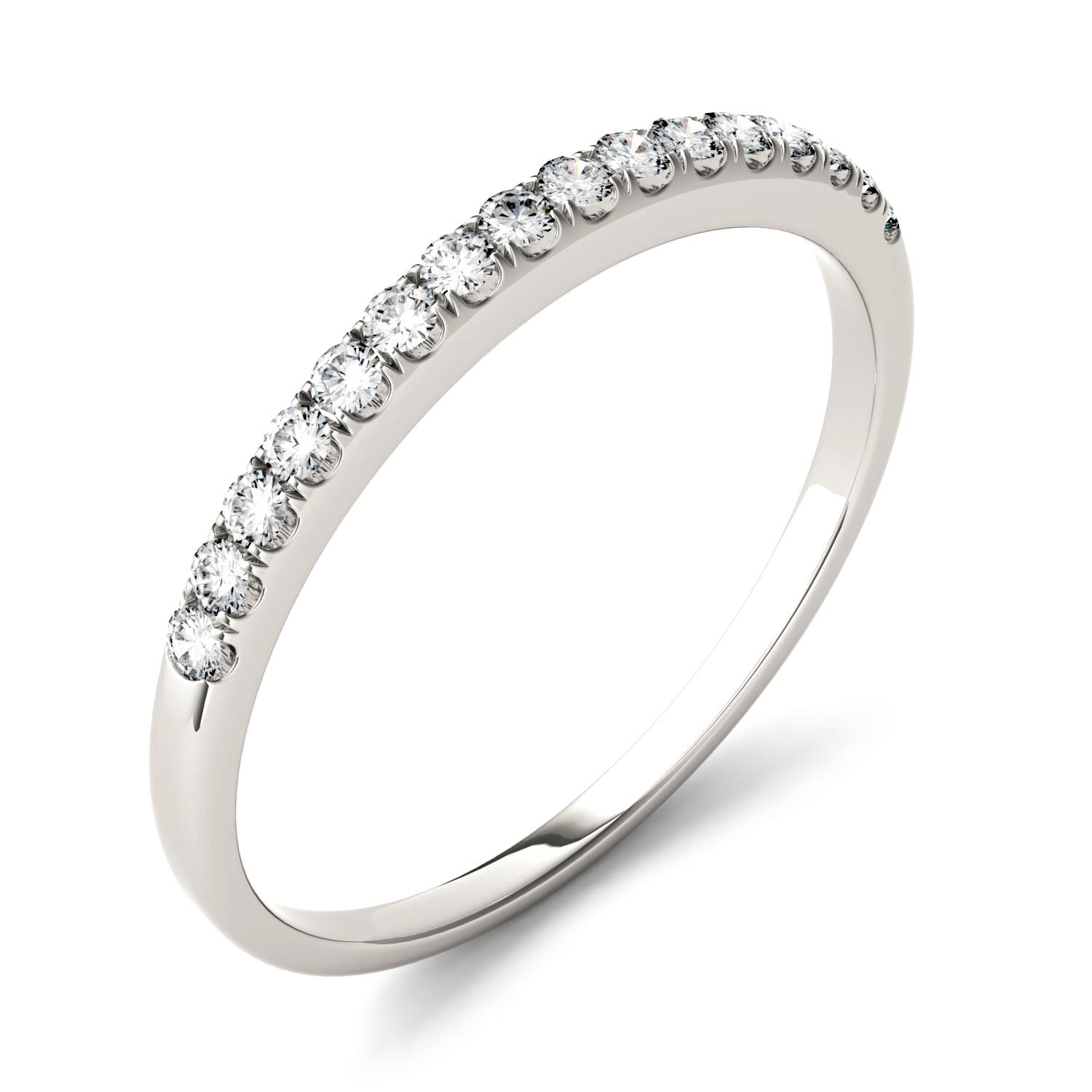 Charles & Colvard Moissanite Women's Half Eternity Wedding Band - Jewelry by Johan