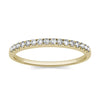Thin Yellow Gold Half Eternity Moissanite Ring