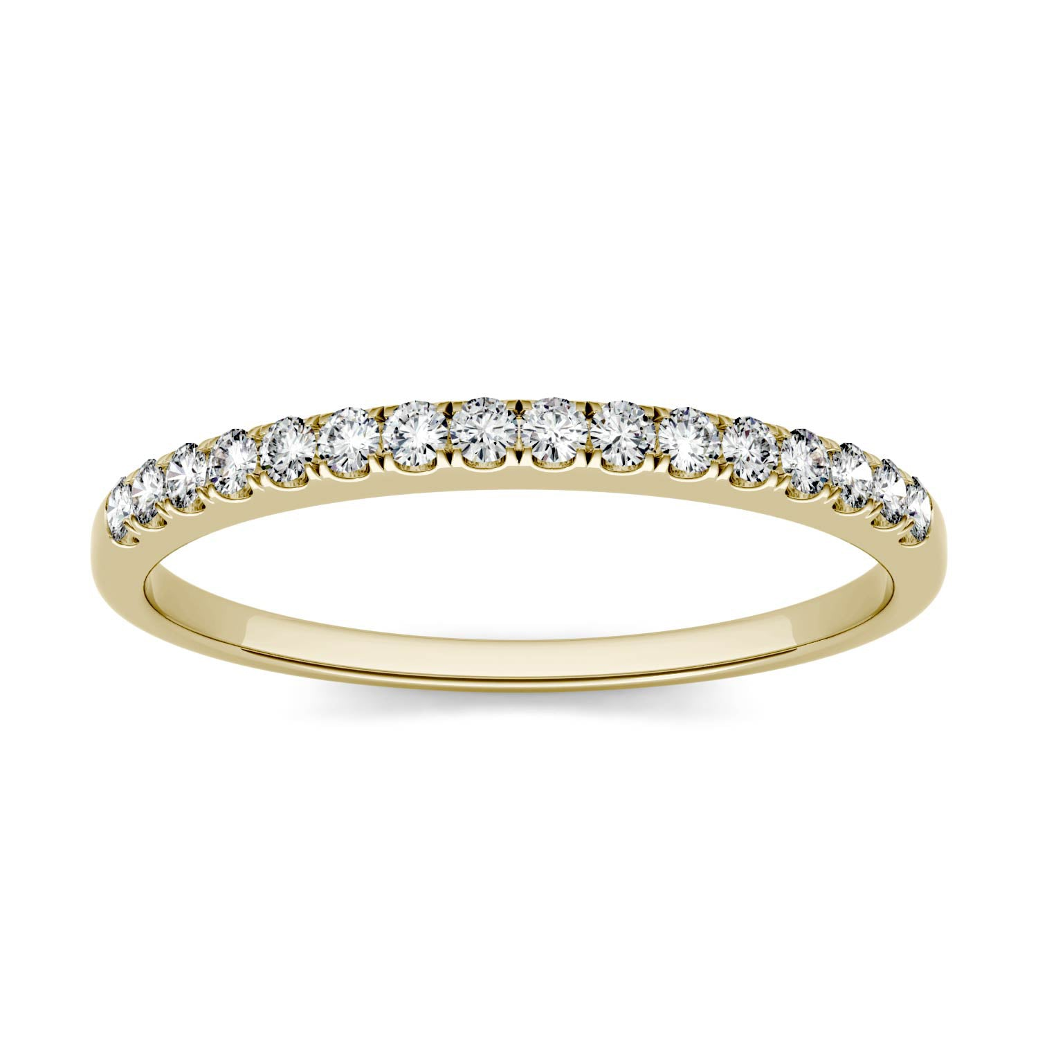 Charles & Colvard Moissanite Half Eternity Wedding Band in Yellow Gold-529469 - Jewelry by Johan