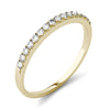 Yellow Gold Half Eternity Women's Wedding Band