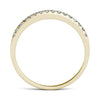 Thin Yellow Gold Shared Prong Half Eternity Ring