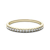 Thin Yellow Gold Half Eternity Shared Prong Women's Wedding Bandg