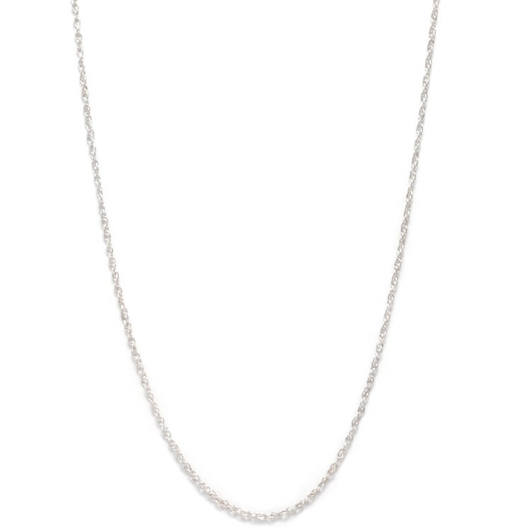 Sterling Silver Rope Chain Necklace With Lobster Clasp-CH471