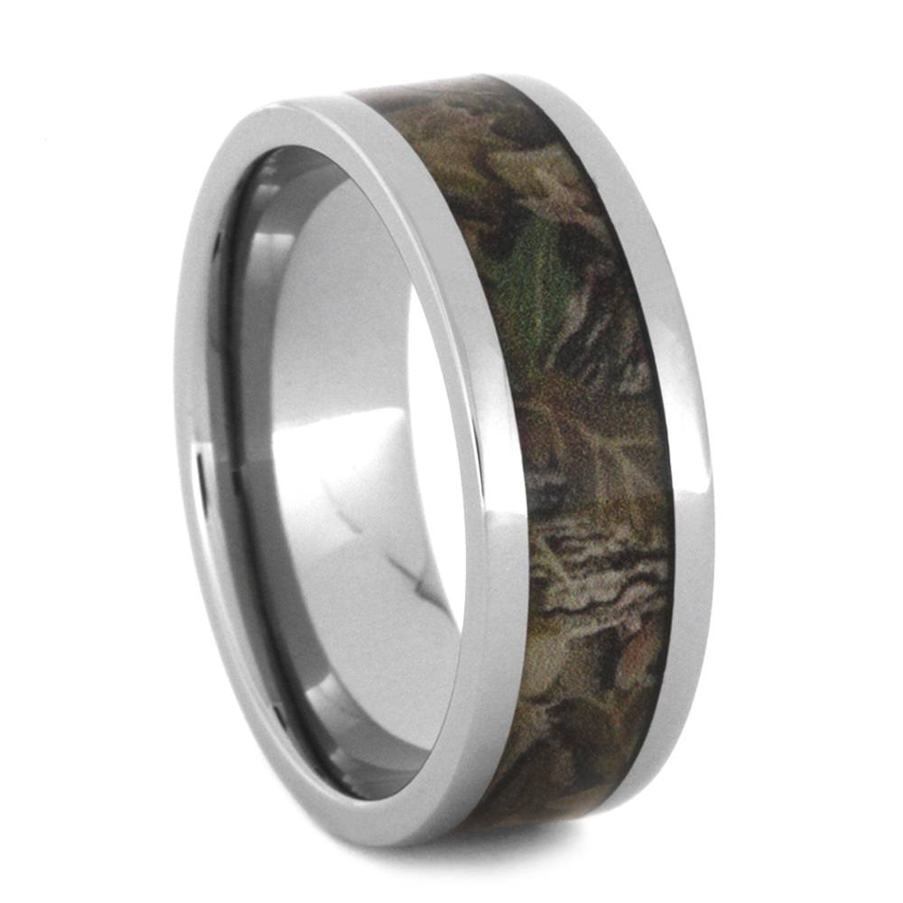 Camo Ring in Titanium Band with Woodland Print-2775 - Jewelry by Johan