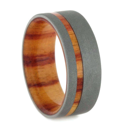 mens wedding band Tulip-Wood-Reverse-Sandblasted-Titanium-8-mm(1)