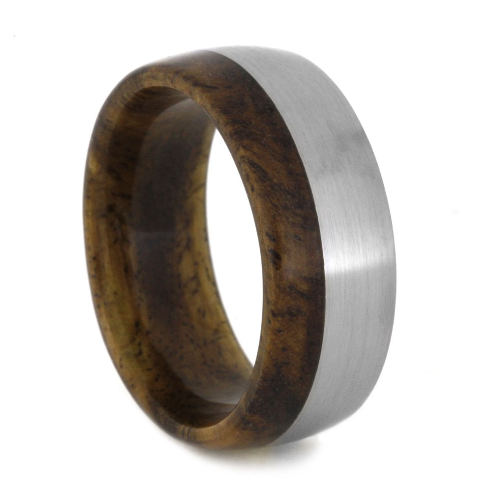 Sindora Wood Wedding Band Made with Titanium-2029 - Jewelry by Johan