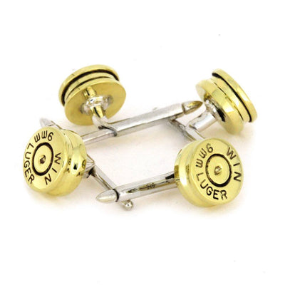 Set of 4 Brass Bullet Shirt Studs-2957 - Jewelry by Johan