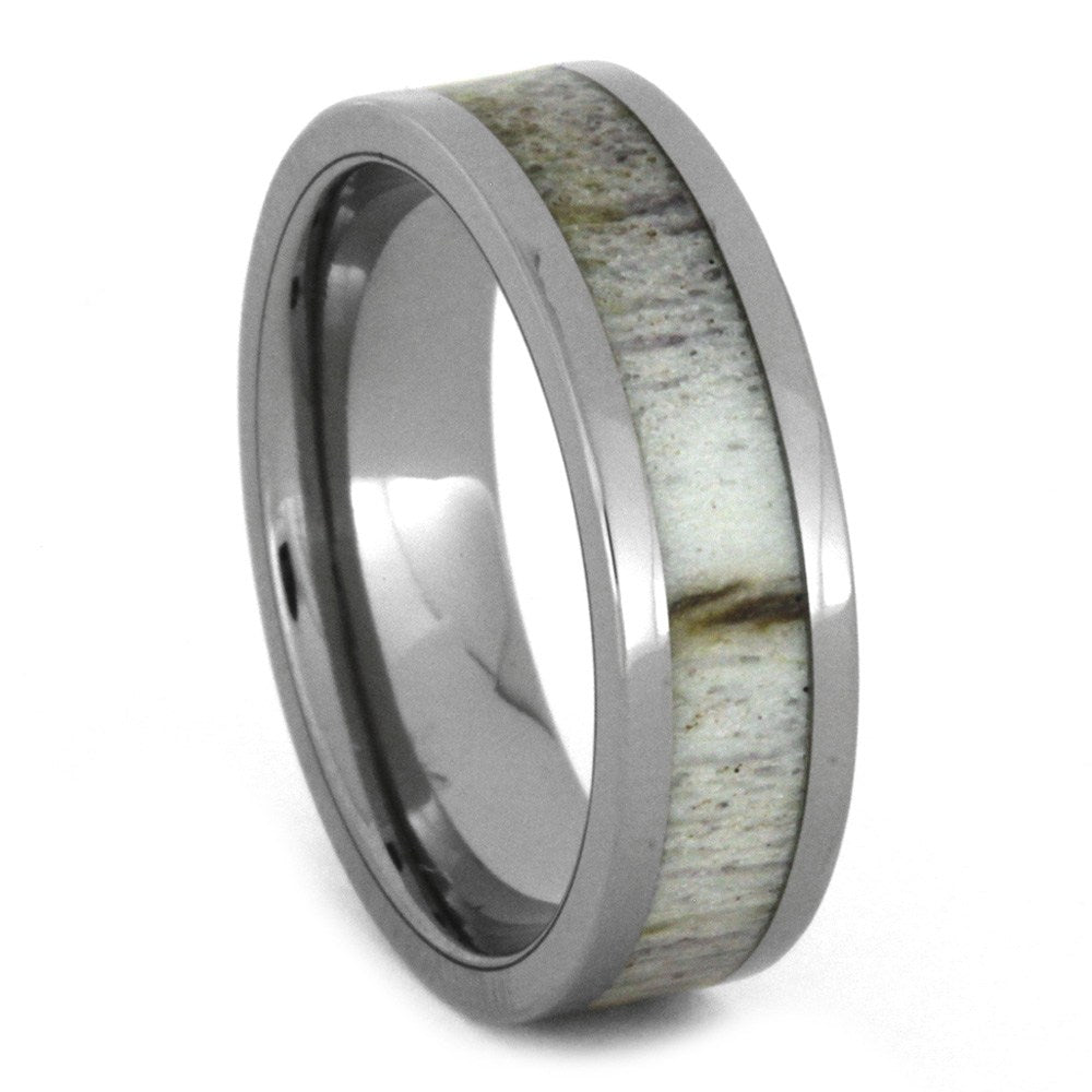 Deer Antler Wedding Band in Titanium, Size 7-RS8596 - Jewelry by Johan