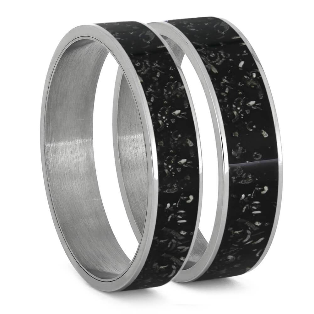 Black Stardust™ Inlays For Interchangeable Rings, 5MM or 6MM-INTCOMP-SD - Jewelry by Johan