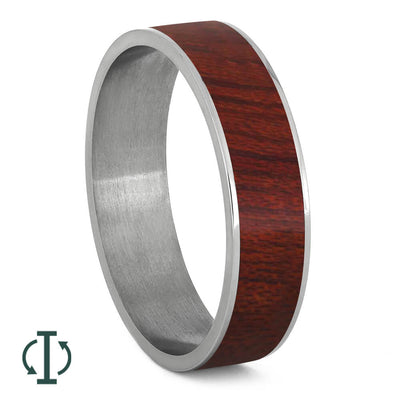 Bloodwood and Titanium Jewelry