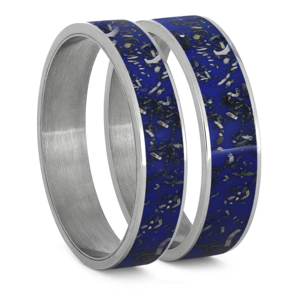 Blue Stardust™ Inlays For Interchangeable Rings, 5MM or 6MM-INTCOMP-SD - Jewelry by Johan