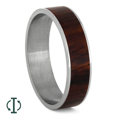 Cocobolo Wood Component for Titanium Ring