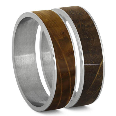 Whiskey Barrel Oak Wood and Titanium Interchangeable Component