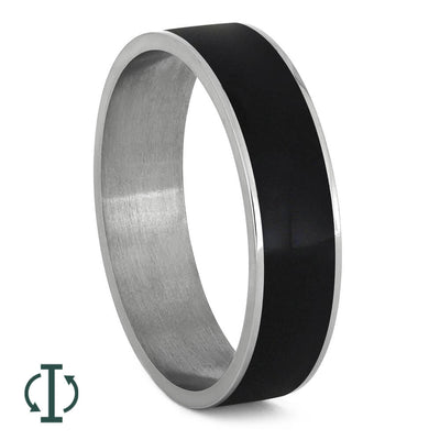 Black Ebony Wood Jewelry with Titanium