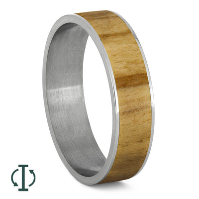 Aspen Wood Inlays For Interchangeable Rings, 5MM or 6MM-INTCOMP-WD - Jewelry by Johan
