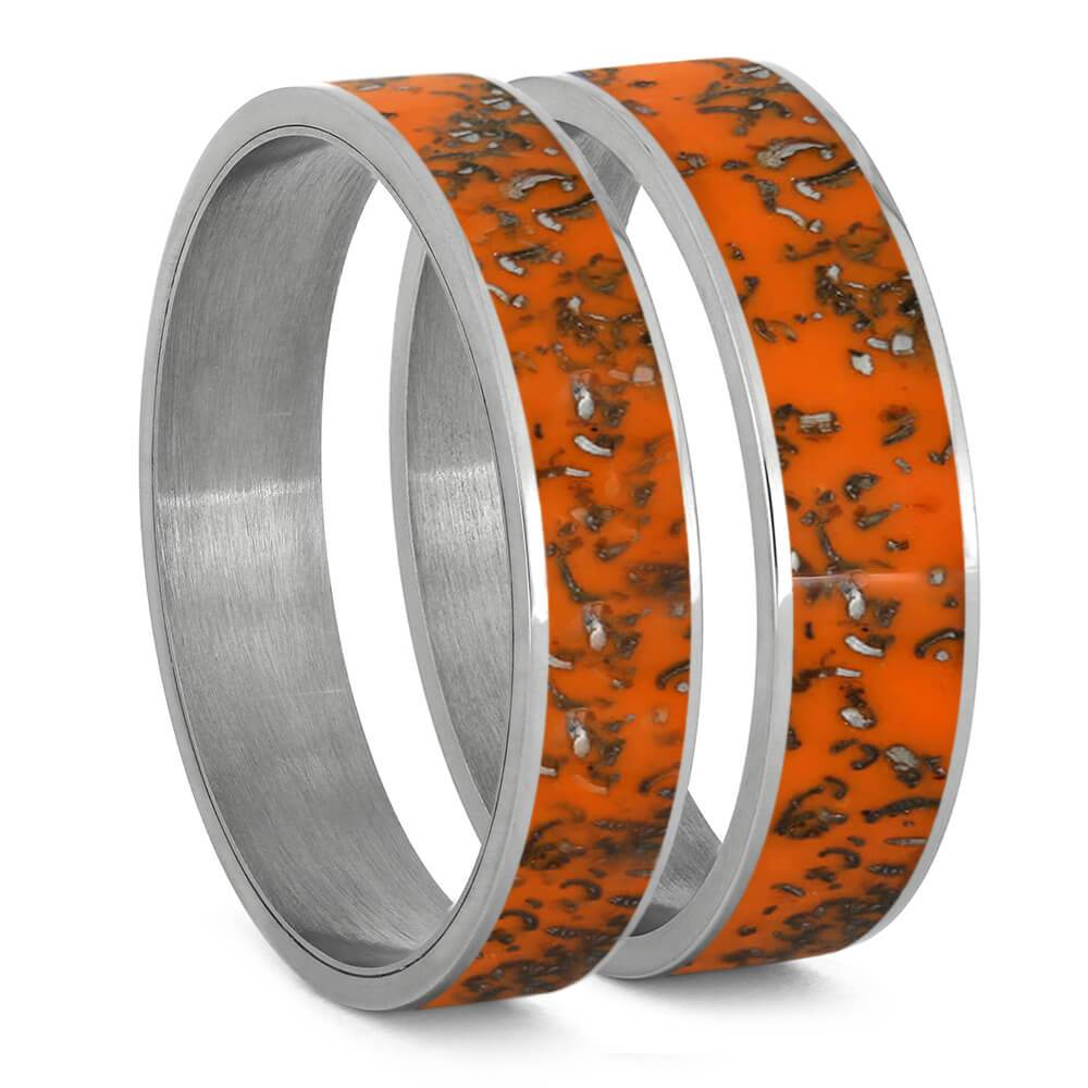 Orange Stardust™ Inlays For Interchangeable Rings, 5MM or 6MM-INTCOMP-SD - Jewelry by Johan