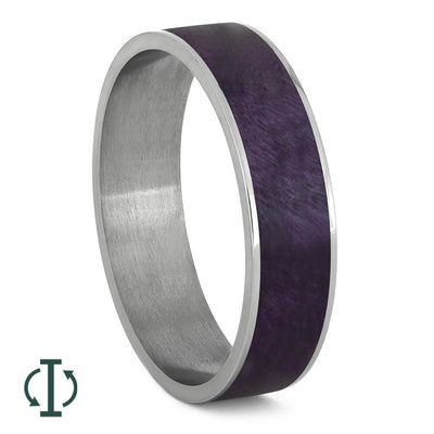 Wood Interchangeable Component for Twist Titanium Ring