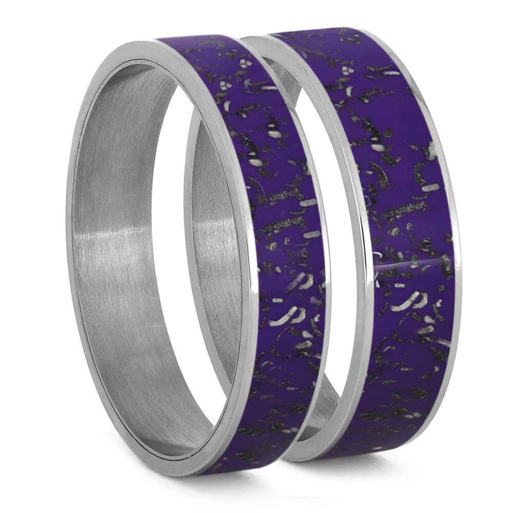 Purple Stardust and Titanium Interchangeable Component