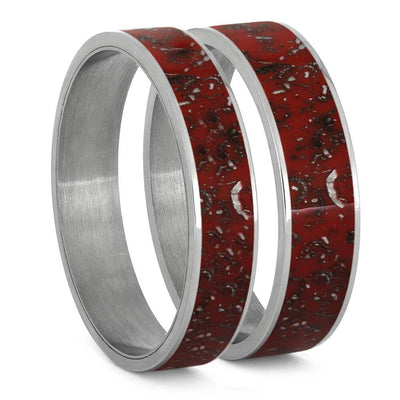Red Stardust™ Inlays For Interchangeable Rings, 5MM or 6MM-INTCOMP-SD - Jewelry by Johan