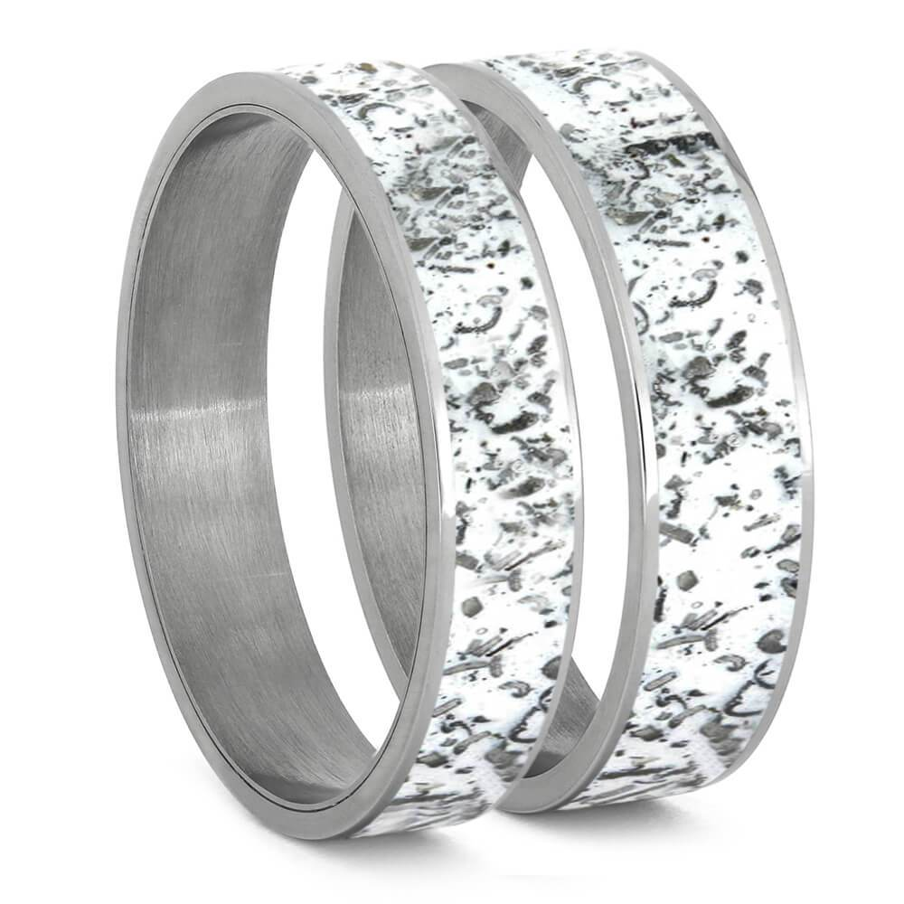 White Stardust™ Inlays For Interchangeable Rings, 5MM or 6MM-INTCOMP-SD - Jewelry by Johan
