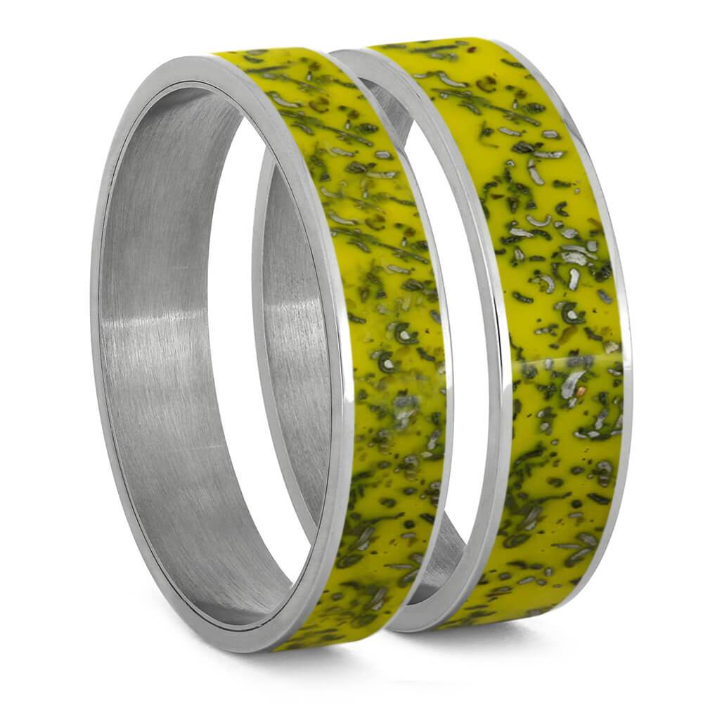 Yellow Stardust™ Inlays For Interchangeable Rings, 5MM or 6MM-INTCOMP-SD - Jewelry by Johan