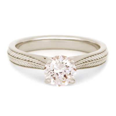 Morganite Engagement Ring in 14K White Gold, Custom Design-2499 - Jewelry by Johan