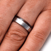 Titanium Wedding Band With Honduran Rosewood Burl-2044 - Jewelry by Johan