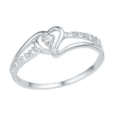 Diamond Heart Promise Ring in Sterling Silver-SHRH009618ATW-SS - Jewelry by Johan