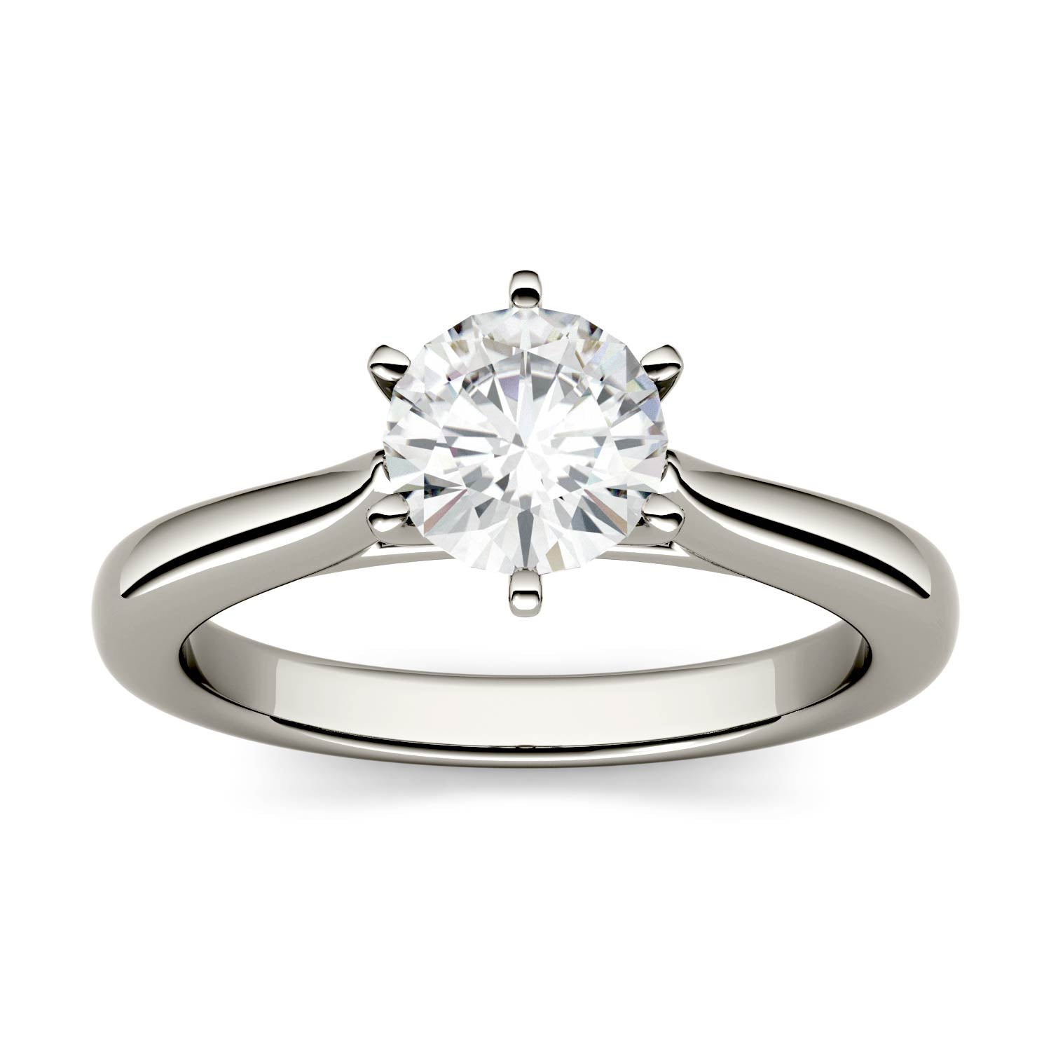 1 Carat TW Charles & Colvard Moissanite Solitaire Engagement Ring in White Gold-612263 - Jewelry by Johan