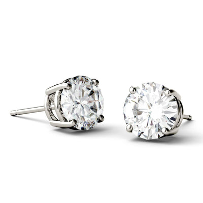 2 Carat TW Charles & Colvard Moissanite Stud Earrings in White Gold-612699 - Jewelry by Johan