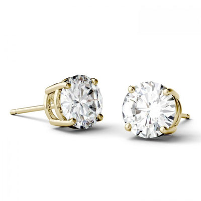 Round Moissanite Stud Earrings