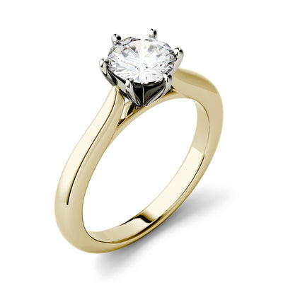 6 Prong Round Cut Solitaire Engagement Ring