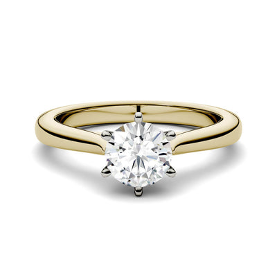 Half Carat Yellow Gold Solitaire Engagement Ring