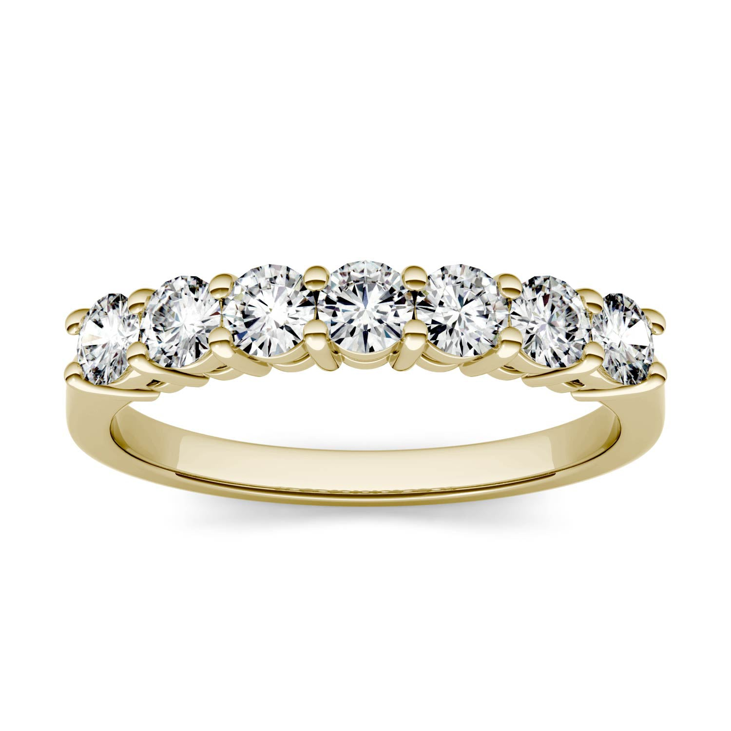 Charles & Colvard Moissanite Seven Stone Ring in Yellow Gold-612938 - Jewelry by Johan