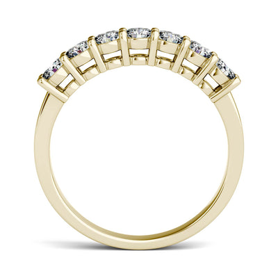 Yellow Gold Seven Stone Wedding Ring