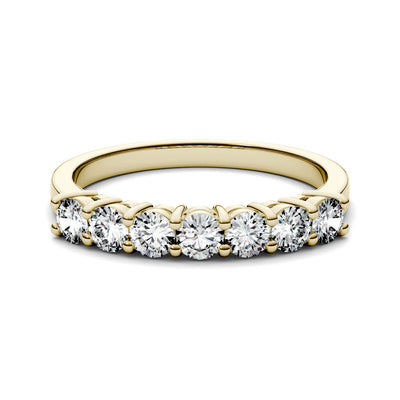 Yellow Gold Seven Stone Wedding Band