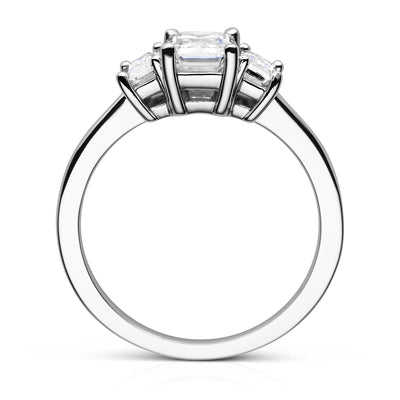 Three Stone Engagement Ring Side View