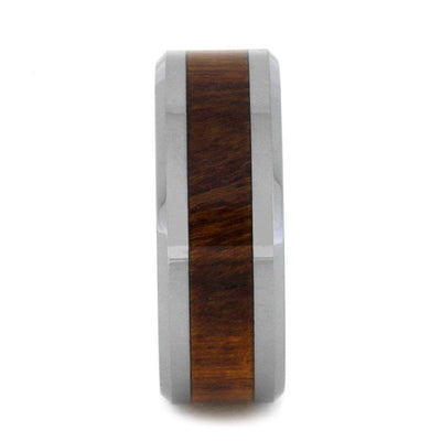 Tungsten Wedding Band with Natural Ironwood Inlay-3186 - Jewelry by Johan