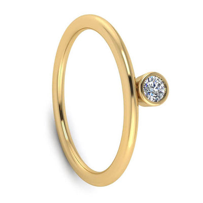 Yellow Gold Gemstone Engagement Ring-2883