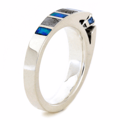 Aquamarine Engagement Ring With Meteorite & Opal Inlays (3)