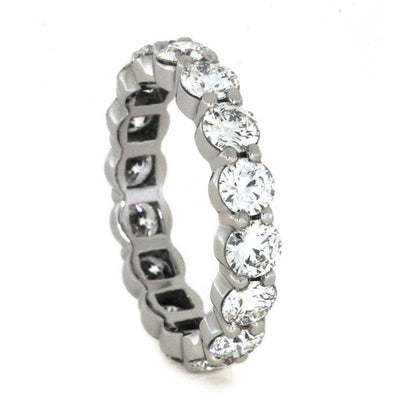 Platinum Diamond Eternity Band, Diamond Wedding Band-2996 - Jewelry by Johan