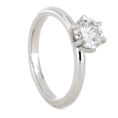 1 Carat Solitaire Diamond Engagement Ring in 10k White Gold-3468