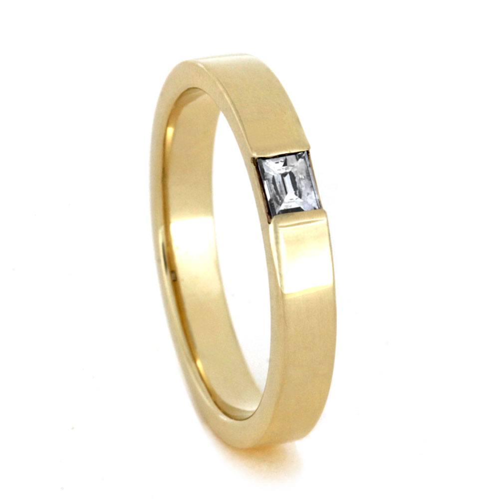 Baguette Diamond Engagement Ring in Yellow Gold-3403 - Jewelry by Johan