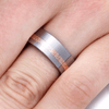 Tungsten Ring With Copper And Silver Mokume Gane-2200 - Jewelry by Johan