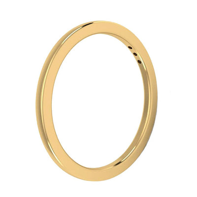 Three Stone Wedding Band Styled In Yellow Gold-2949 - Jewelry by Johan