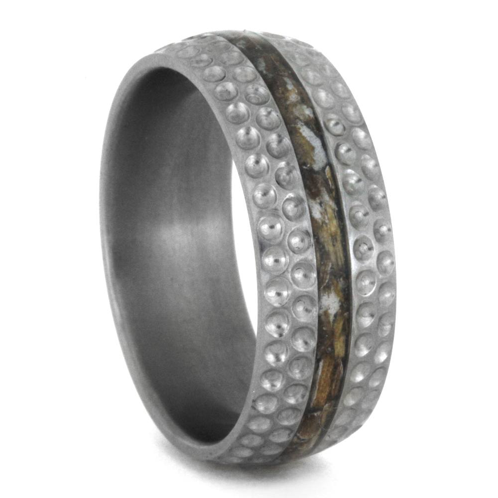 Golf Ring for Men Titanium Wedding Band Inspired by Golf3364