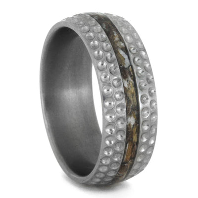 Golf Ring for Men, Titanium Wedding Band Inspired by Golf-3364 - Jewelry by Johan