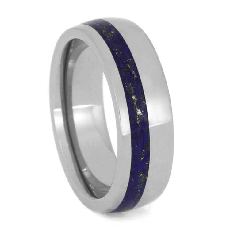 Women's Lapis Lazuli Wedding Band, Size 6.5-RS9882 - Jewelry by Johan